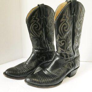 JUSTIN Men Leather Western Cowboy Boots 9 1/2 D